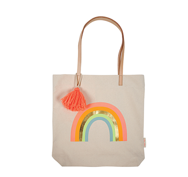 Meri Meri Canvas Rainbow Tote Bag - Le Papillon Gallery