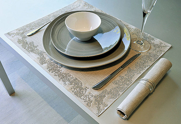 Claudia Barbari Ramage Placemat Natural Silver