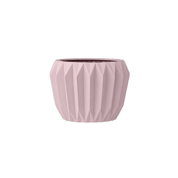 Bloomingville Ceramic Rounded Pink Vase - Le Papillon Gallery