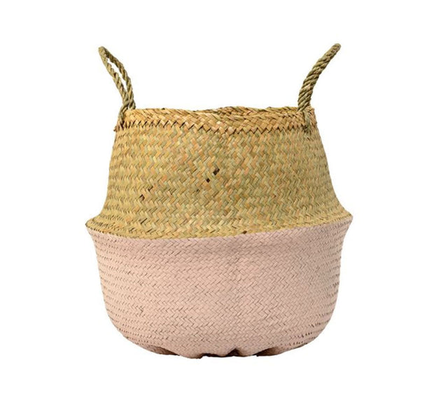 Bloomingville Seagrass Basket Rose - Le Papillon Gallery