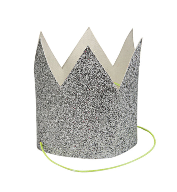 Silver Glitter Crown - Le Papillon Gallery