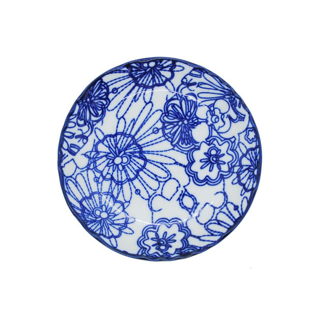 Blue and White Dish S4B - Le Papillon Gallery
