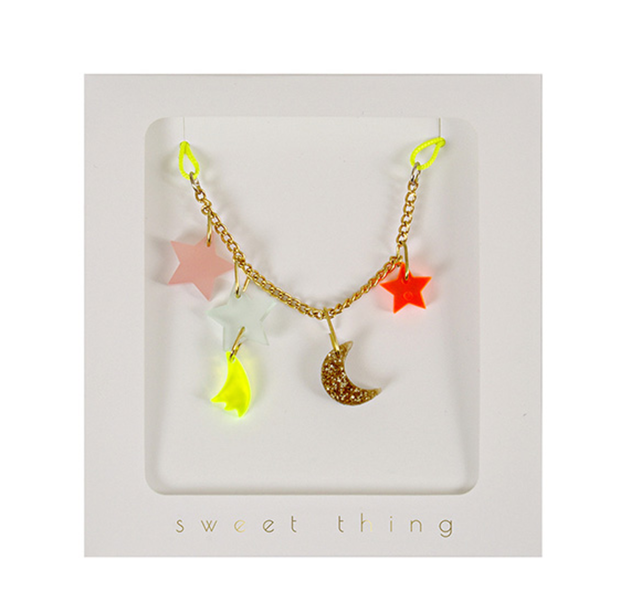 Meri Meri Stars & Moon Necklace - Le Papillon Gallery