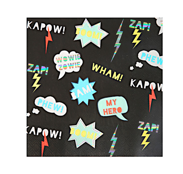 Meri Meri Superhero Napkins - Large