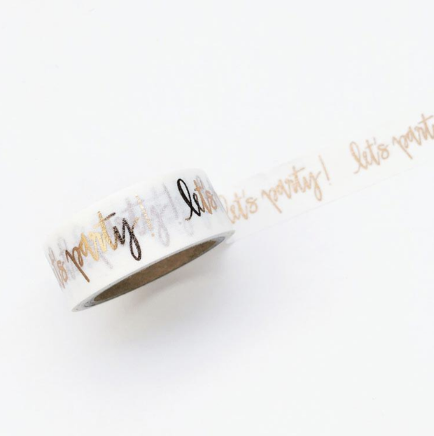 Chez Gagne Washi Tape Let's Party - Le Papillon Gallery