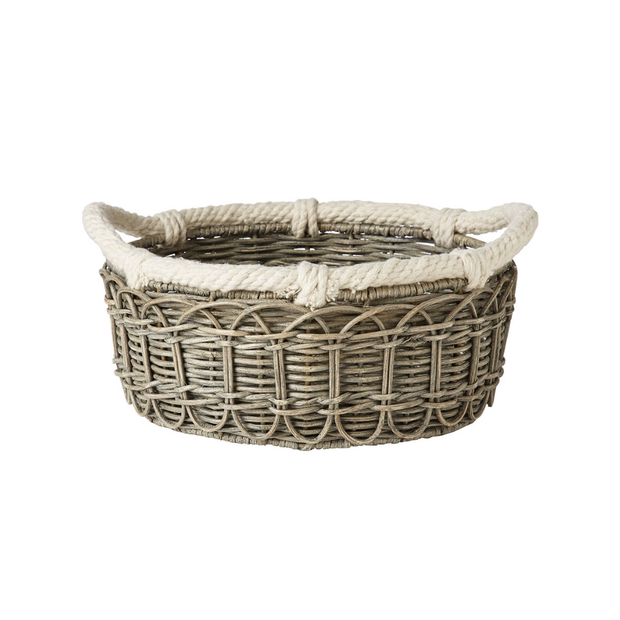 Juliska Waveney Grey Wash Md Basket