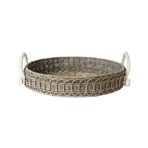 Juliska Waveney Grey Wash Round Tray