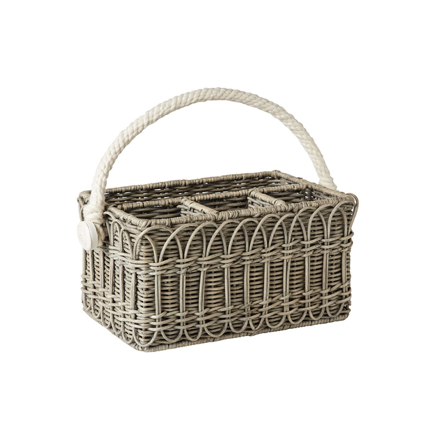 Juliska Waveney Grey Wash Utensil Caddy