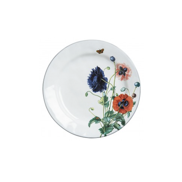Juliska Flowers White Truffle Poppies Dinner Plate