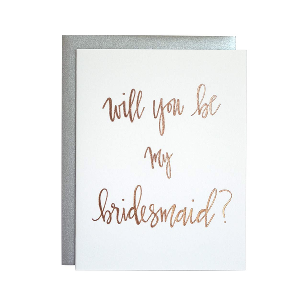 Chez Gagne Will You be my Bridesmaid Card