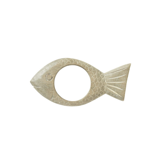 Juliska Wooden Fish Napkin Ring - Le Papillon Gallery