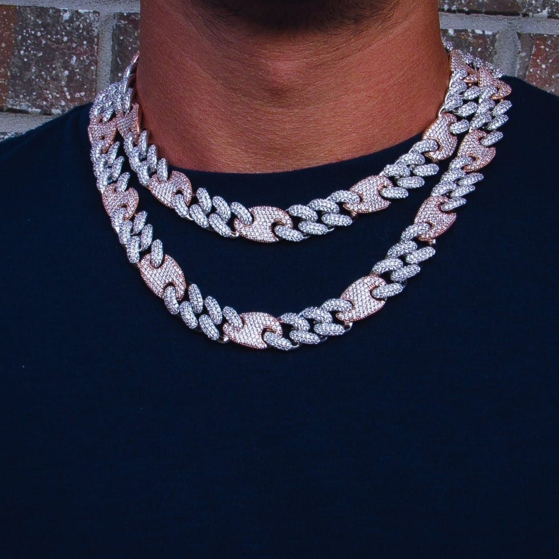 16mm Multicolored Figaro Cuban Link Chain