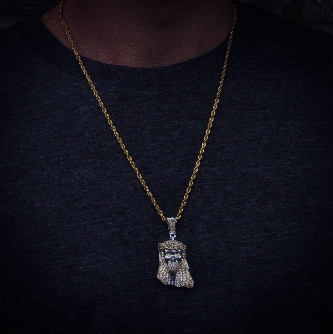 Jesus Piece Pendant in White Gold - IcedGold