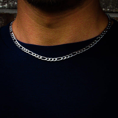 5mm Stainless Steel Figaro Chain - IcedGold