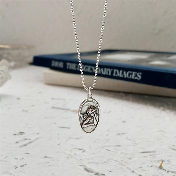 BESTSELLER - Sterling Silver Angel Baby Pendant Necklace - 925 Real Silver Necklace - Classic Silver Necklace Lux & Rose