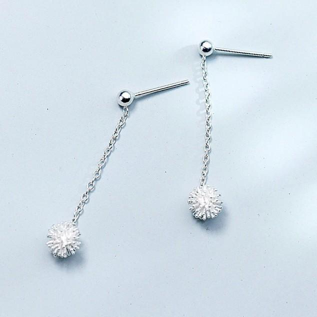 BESTSELLER - Sterling Silver Dandelion Flower Drop Earrings - 925 Real Silver Earrings - Playful Silver Earrings Lux & Rose Default Title