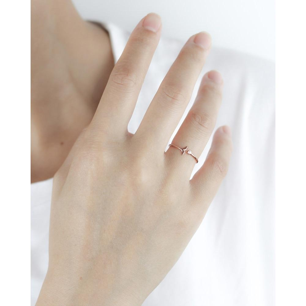 BESTSELLER - Sterling Silver Mermaid Tail Ring - Delicate Ring - Rose Gold Plated and Silver Lux & Rose