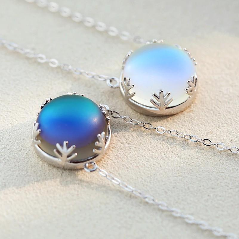 BESTSELLER - Sterling Silver Northern Lights Necklace - Aurora Borealis Necklace - Galaxy Pendant Necklace Lux & Rose