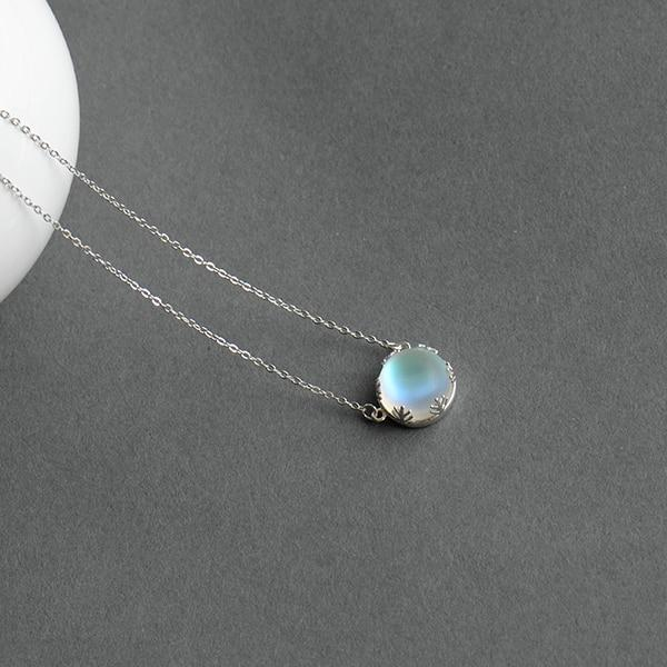 BESTSELLER - Sterling Silver Northern Lights Necklace - Aurora Borealis Necklace - Galaxy Pendant Necklace Lux & Rose light 12-13mm 45cm