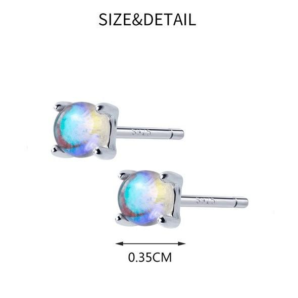 BESTSELLER - Sterling Silver Ocean Stud Earrings - Mermaid Tear Stud Earrings - 925 Real Silver Earrings - Cabochon Studs Lux & Rose