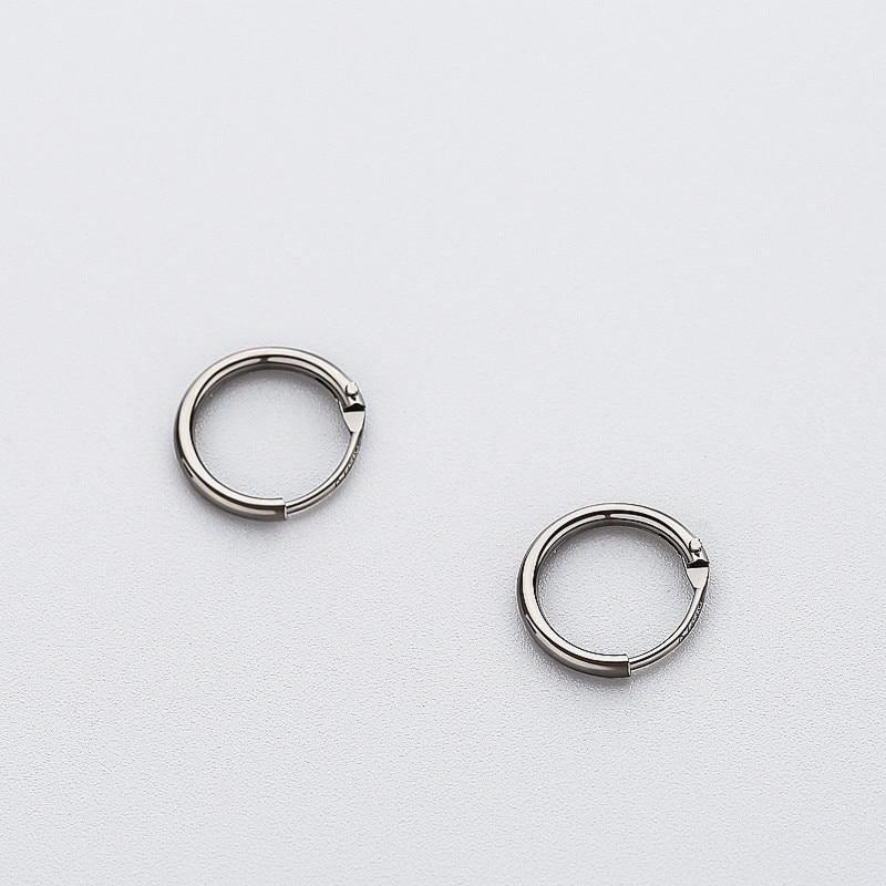 BESTSELLER - Sterling Silver Tiny Hoop Earrings - 925 Real Silver Earrings - Playful Silver Earrings Lux & Rose Black