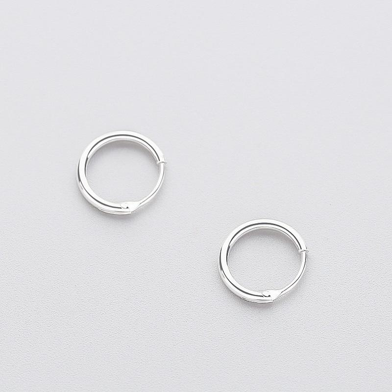 BESTSELLER - Sterling Silver Tiny Hoop Earrings - 925 Real Silver Earrings - Playful Silver Earrings Lux & Rose Silver