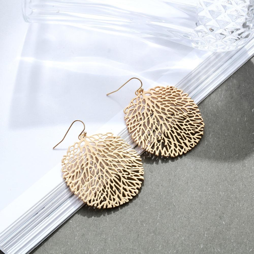Circle Tree Branches Dangle Earrings - Dangle Earrings - Tree Branch Dangle Earrings - Tree Design Dangle Earrings - Round Shape Tree Dangling Earrings - Circle Shape Tree Dangle Earrings Lux & Rose