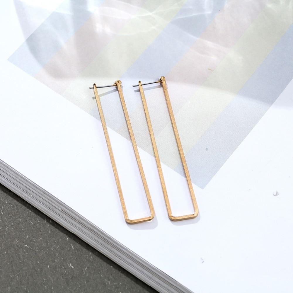 Long Rectangle Hoop Earrings - Long Open Rectangle Earrings - Casual Open Rectangle Hoop Earrings - Rectangular Ear Hooks - Rustic Rectangle Hoop Earrings - Golden Rectangle Earrings - Silver Rectangle Earrings Lux & Rose
