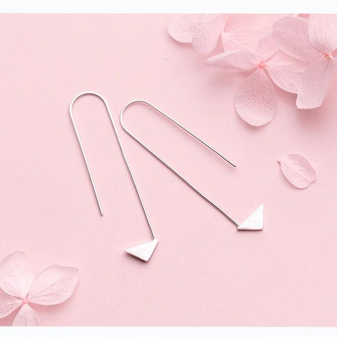 Sterling Silver Arrow Stud Earrings - 925 Real Silver Earrings - Traditional Silver Earrings Lux & Rose