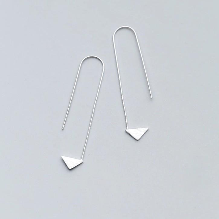 Sterling Silver Arrow Stud Earrings - 925 Real Silver Earrings - Traditional Silver Earrings Lux & Rose Default Title