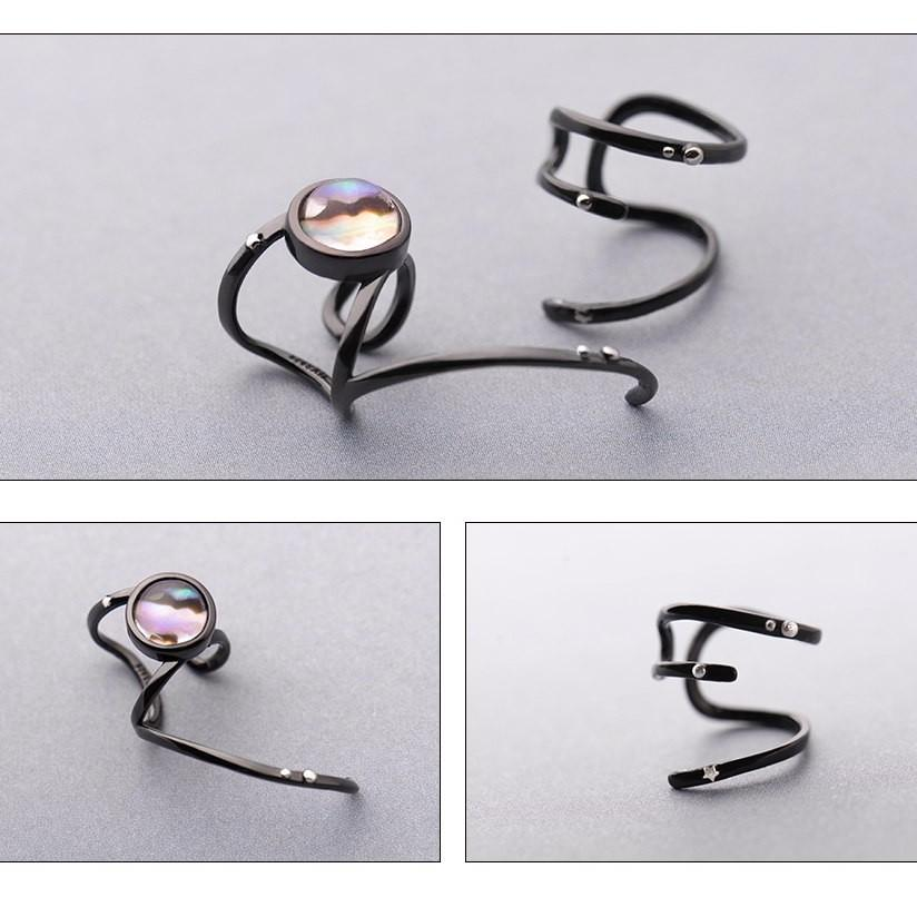 Sterling Silver Asymmetrical Wrap Cuff Earrings - 925 Cuff Earrings - 925 Real Silver Earrings - Playful Silver Earrings Lux & Rose