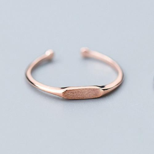 Sterling Silver Blank Cocktail Band Ring - 925 Real Silver Ring - Classic Silver Ring - Adjustable Cocktail Ring Lux & Rose Rose Gold Resizable