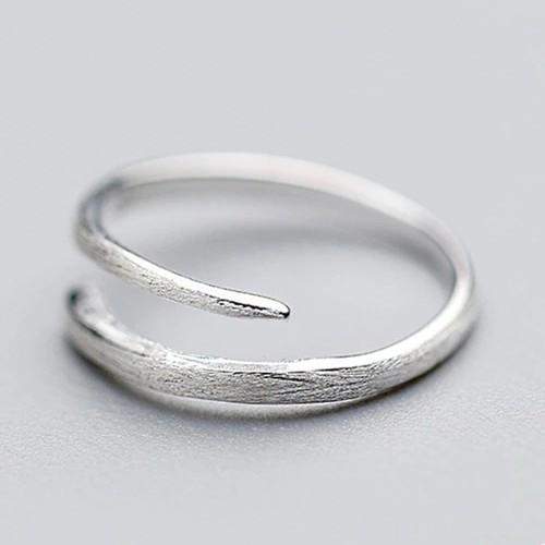 Sterling Silver Brushed Wrap Ring - 925 Real Silver Ring - Classic Silver Ring - Adjustable Silver Ring Lux & Rose