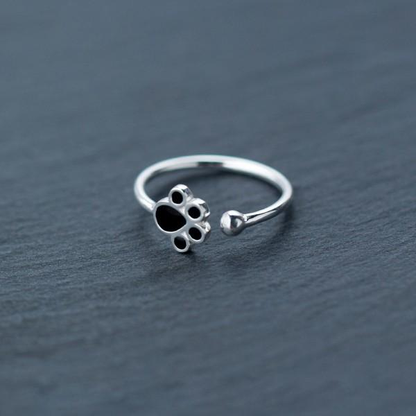 Sterling Silver Cat's Paw Ring - 925 Real Silver Ring - Classic Silver Ring Lux & Rose