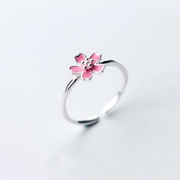 Sterling Silver Daisy Flower Ring - 925 Real Silver Ring - Classic Silver Ring - Adjustable Cocktail Ring Lux & Rose