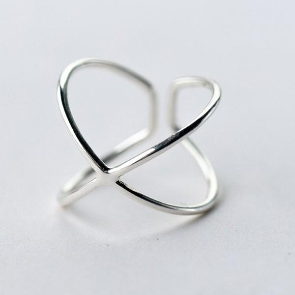 Sterling Silver Double Line Ring - 925 Real Silver Ring - Classic Silver Ring - Adjustable Cocktail Ring Lux & Rose