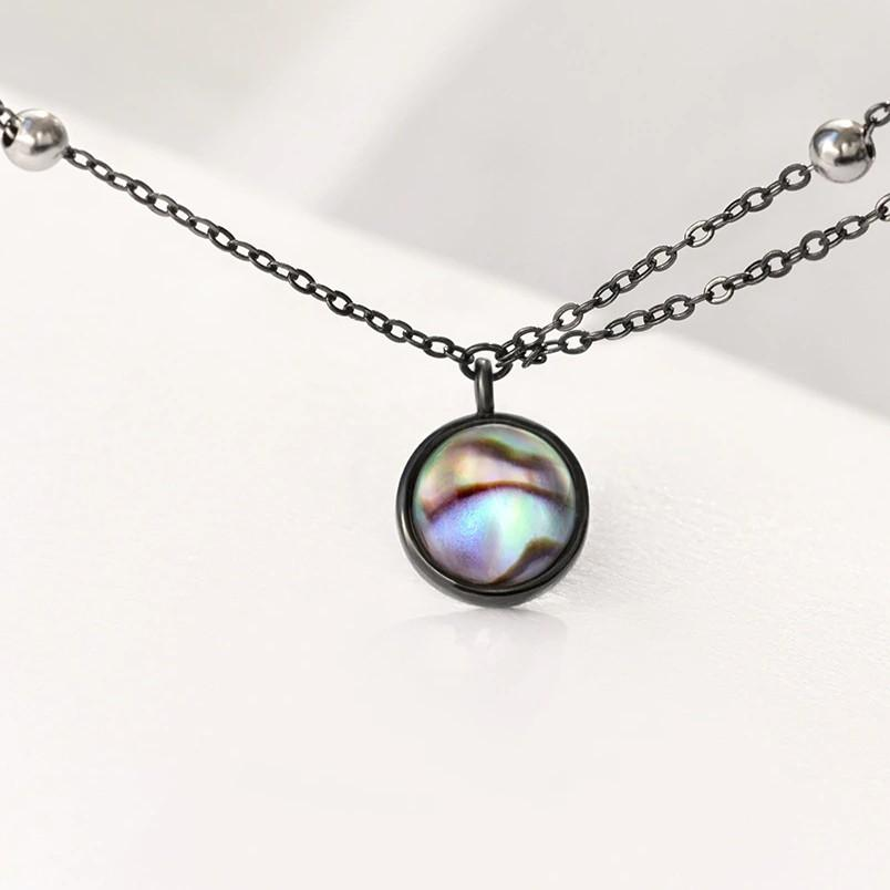 Sterling Silver Galaxy Pendant Necklace - 925 Real Silver Necklace - Classic Silver Necklace Lux & Rose