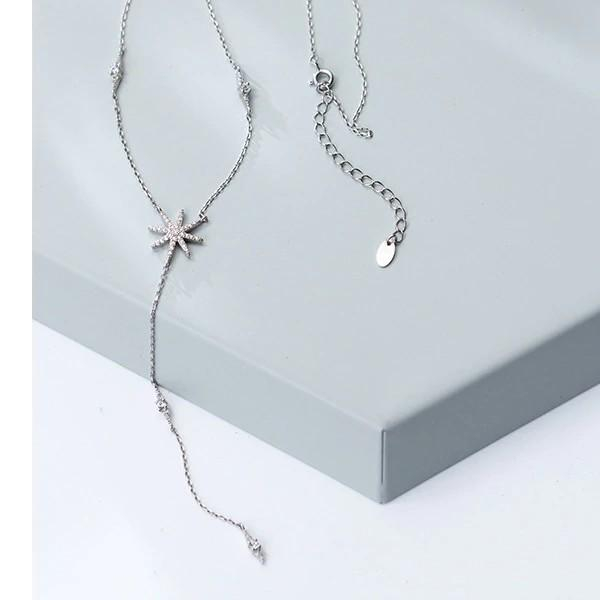 Sterling Silver Hearts Flower CZ choker Necklace - 925 Real Silver choker Necklace - Classic Silver choker Necklace Lux & Rose