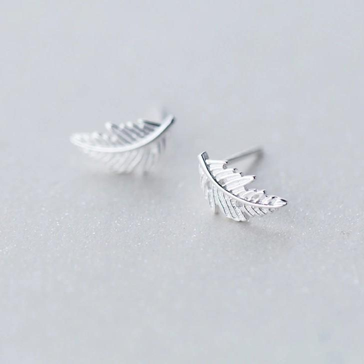 Sterling Silver Leafs Stud Earrings - 925 Stud Earring - 925 Real Silver Earrings - Charming Silver Earrings Lux & Rose Default Title