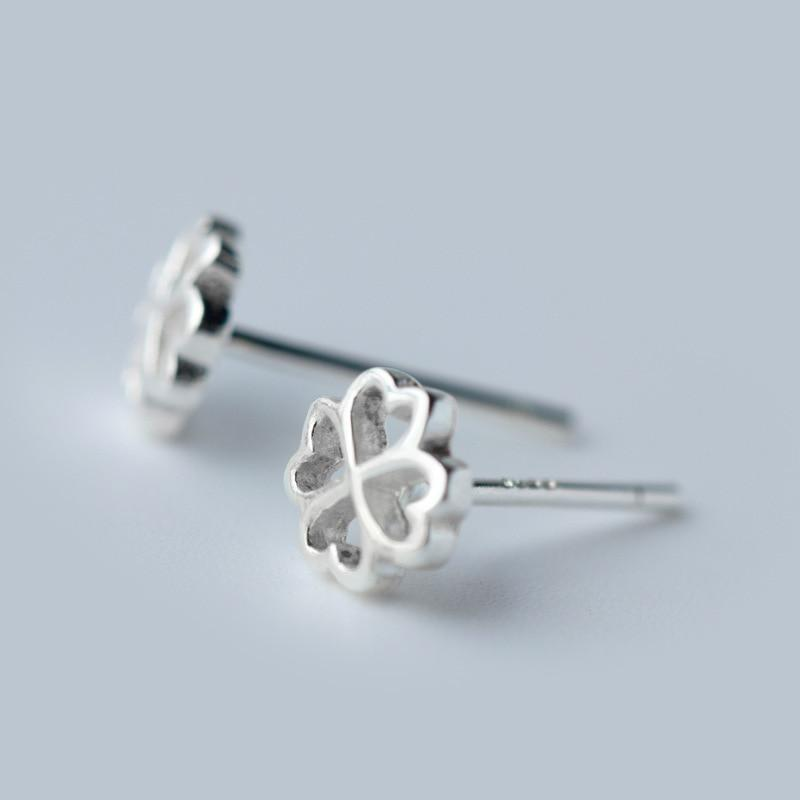 Sterling Silver Lucky Glover Stud Earrings - Lucky Glover Ear Studs - Luck of the Irish Earrings - Lucky Irish Earrings Lux & Rose