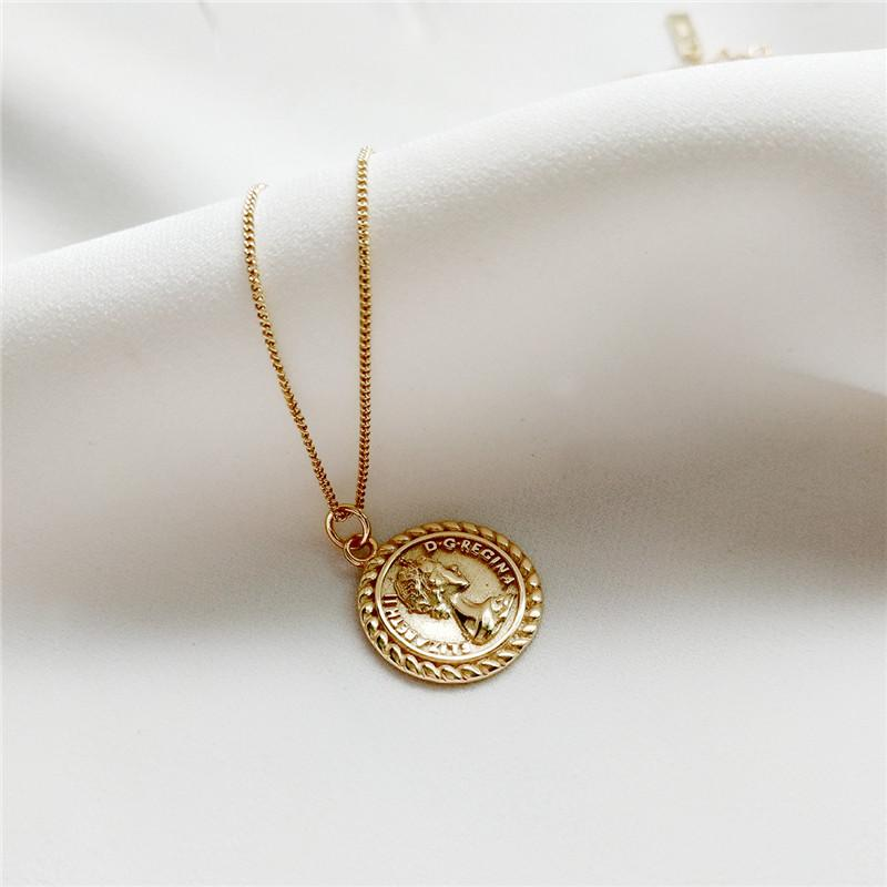 Sterling Silver Medallion Coin Gothic Pendant Necklace - 925 Real Silver Necklace - Classic Silver Necklace Lux & Rose