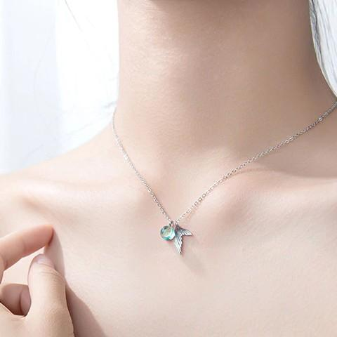 Sterling Silver Mermaid Tail Necklace - 925 Real Silver Necklace - Classic Silver Necklace Lux & Rose