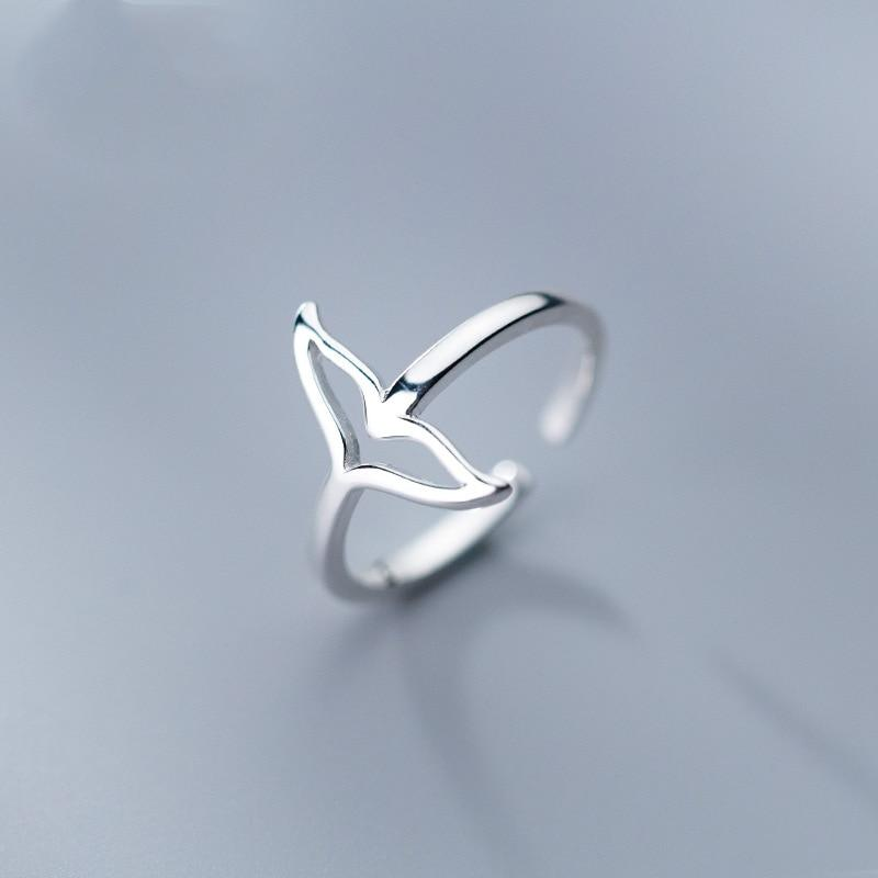 Sterling Silver Mermaid Tail Ring - 925 Real Silver Ring - Classic Silver Ring Lux & Rose