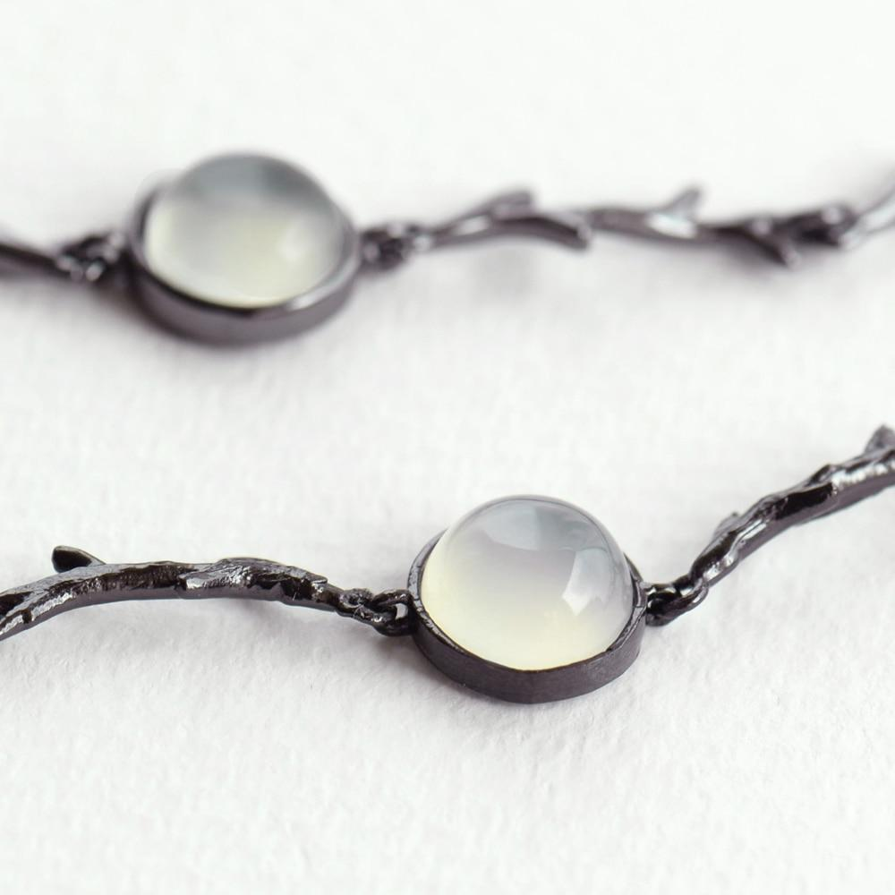 Real silver and amber bracelet