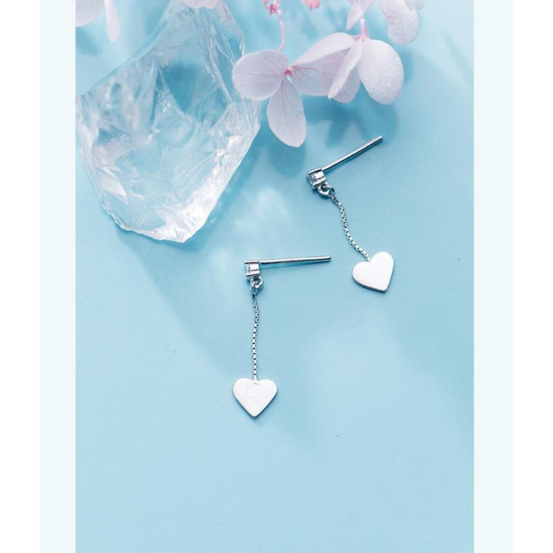 Sterling Silver Small Heart Stud Earrings - 925 Real Silver Earrings - Stylish Silver Earrings Lux & Rose