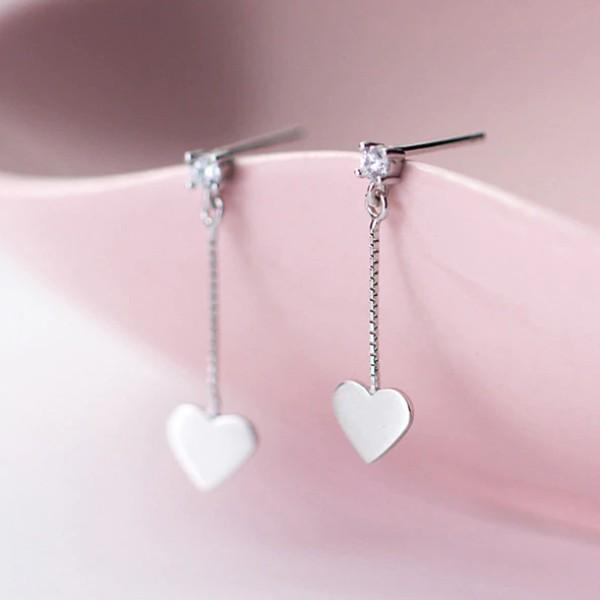 Sterling Silver Small Heart Stud Earrings - 925 Real Silver Earrings - Stylish Silver Earrings Lux & Rose Default Title