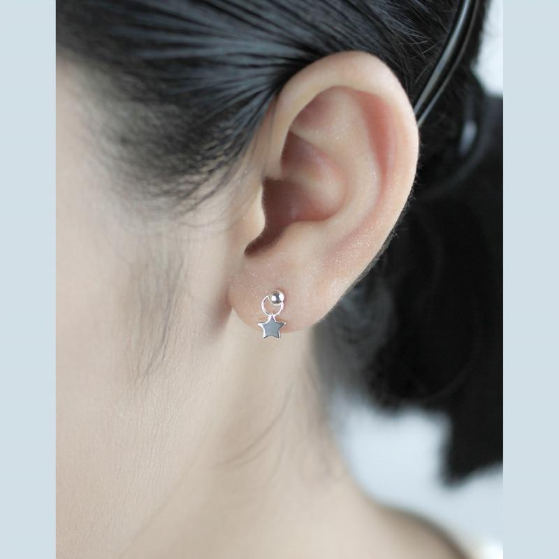 Sterling Silver Small Tiny Star Stud Earrings - 925 Real Silver Earrings - Traditional Silver Earrings Lux & Rose