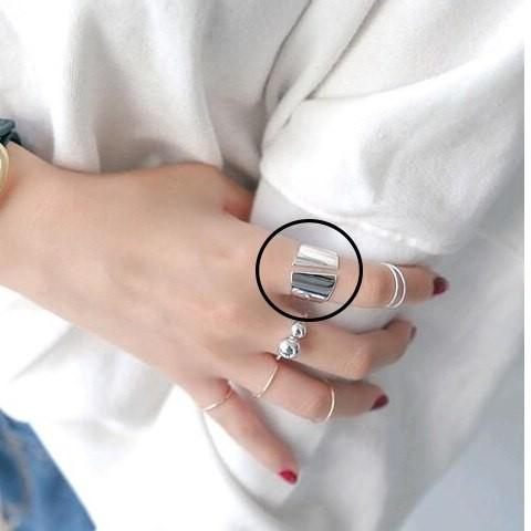 Sterling Silver Smooth Surface Ring - 925 Real Silver Ring - Classic Silver Ring Lux & Rose