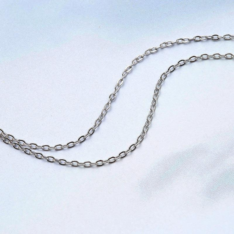 Sterling Silver Stick Bar Pendant Necklace - 925 Real Silver Necklace - Classic Silver Necklace Lux & Rose