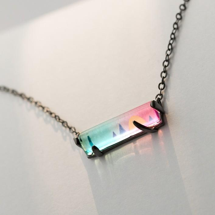 Sterling Silver Sunset Symphony Chain necklace - 925 Real Silver Necklace - Classic Silver Necklace Lux & Rose Default Title